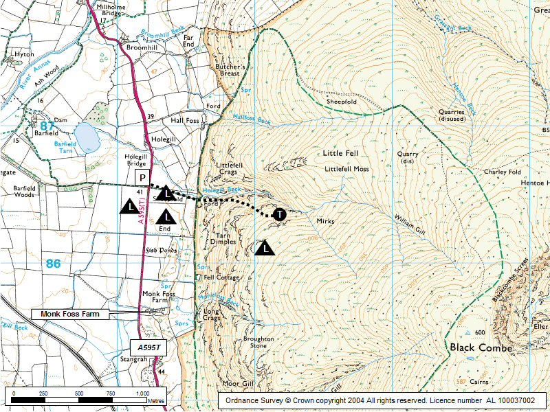 Black Combe (West) Map