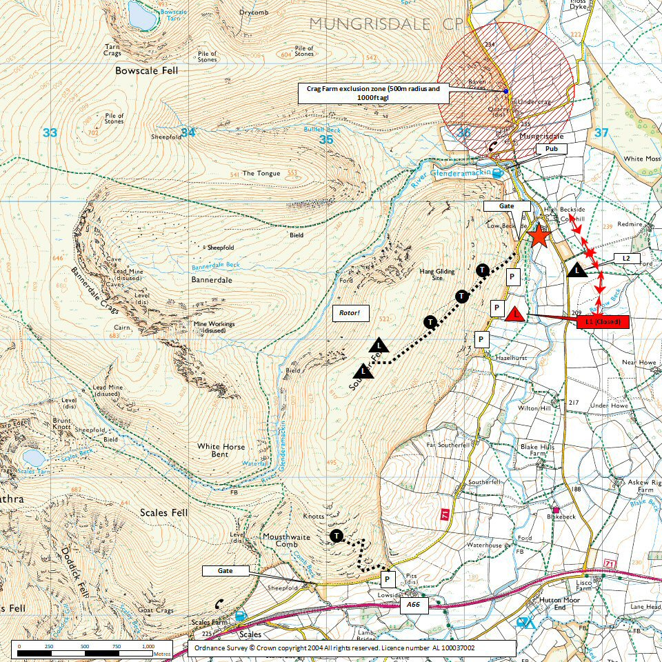 Souther Fell Map