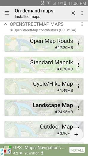 OSM & OS digital maps